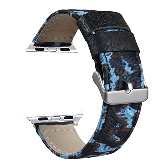 VONTER Band Compatible for Apple Watch 38mm 40mm - Smart Watch Band - Leather Strap Replacement Bands for iWatch Series 4 40mm Series 3 38mm Series 2 ...