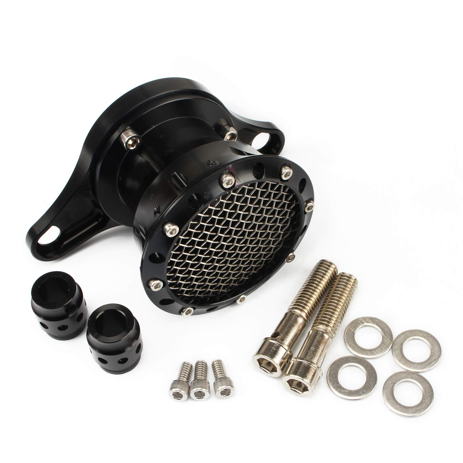 Air Cleaner Intake Filter System Kit For Harley Davidson Sportster XL883 XL883N XL883R XL883P XL1200 XL1200L XL1200X Iron 883 Forty Eight XL1200X 2004-2016 Billet Aluminum CNC Machined Washable