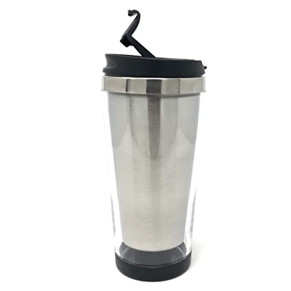 d1655835e68 Image Unavailable. Image not available for. Color: Engy DIY 16 oz Photo Insert  Travel Tumbler Coffee Mug Tea Cup Stainless Steel With Plastic
