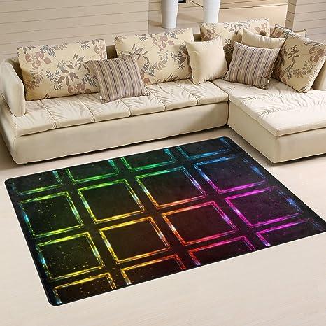 Amazon.com: DEYYA Colorful Neon Contrast Rainbow Polyester ...
