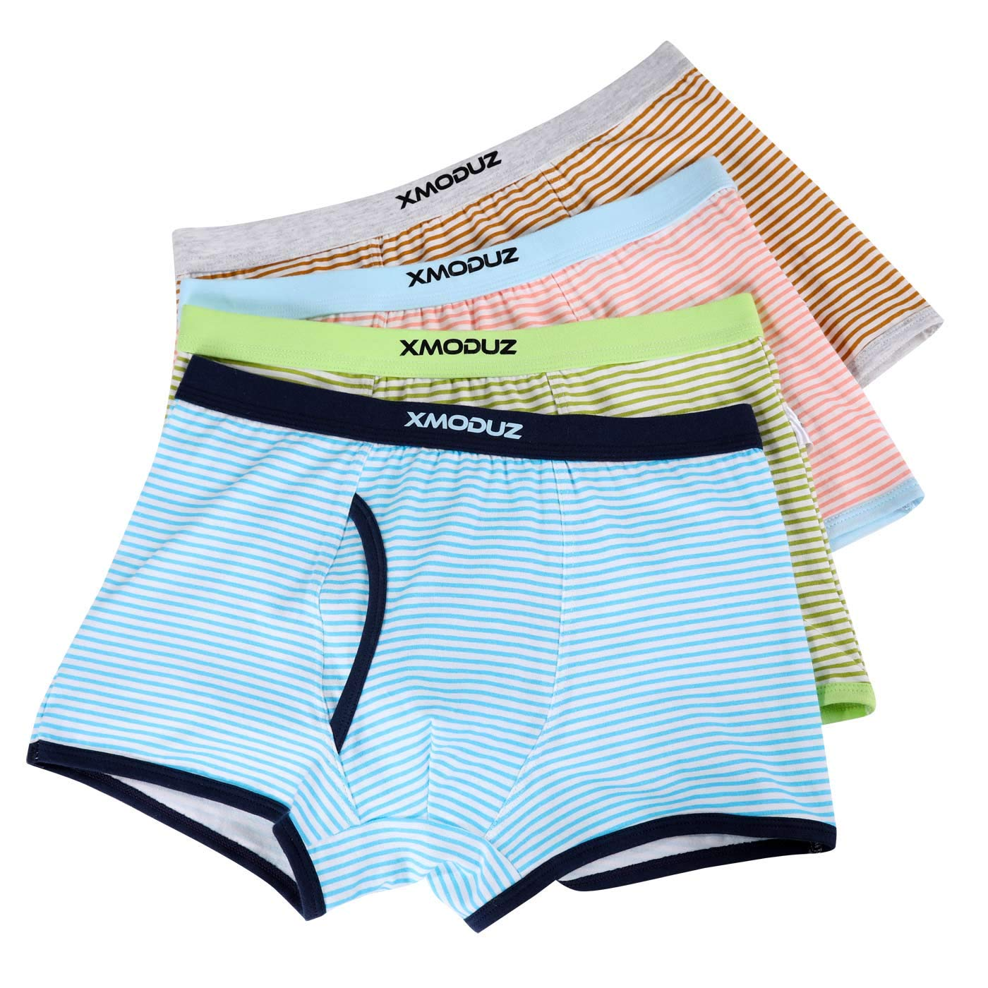 Xiaomaoduizhang Toddler Boys Briefs Value 4-Pack Underwear Percy Teens Basic Classic Underwear Stripe 120cm by Xiaomaoduizhang (Image #1)