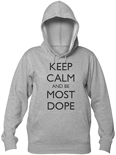 Finest Prints Keep Calm and Be Most Dope Rip Tribute Design Sudadera con Capucha para Mujer: Amazon.es: Ropa y accesorios