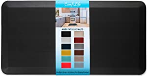 ComfiLife Anti Fatigue Floor Mat – 3/4 Inch Thick Perfect Kitchen Mat, Standing Desk Mat – Comfort at Home, Office, Garage – Durable – Stain Resistant – Non-Slip Bottom (24
