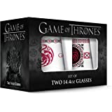 Game of Thrones Targaryen Stemless Wine Glass with Gold Rim (Set of 2), Clear