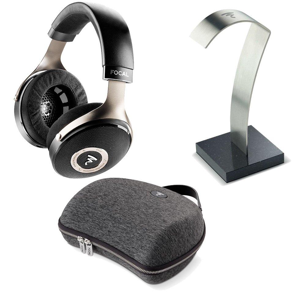 Focal Elearヘッドフォン&アクセサリーBundle – 焦点Elearヘッドフォン、焦点ヘッドホンスタンド&リジッドCarryケース B078145FZL