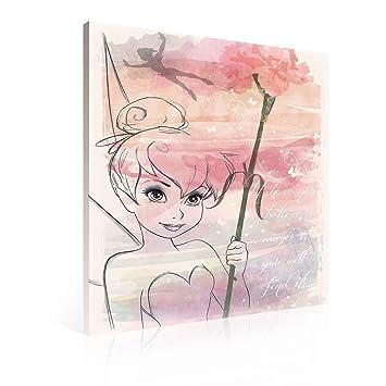 Disney Fairies Tinker Bell Leinwand Bilder Ppd2282o1fw Wallsticker Warehouse Size O1 100cm X 75cm 230gm2 Canvas 1 Piece
