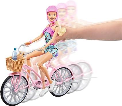 Amazon.es: Barbie Muñeca Articulada con Bicicleta y Accesorios ...
