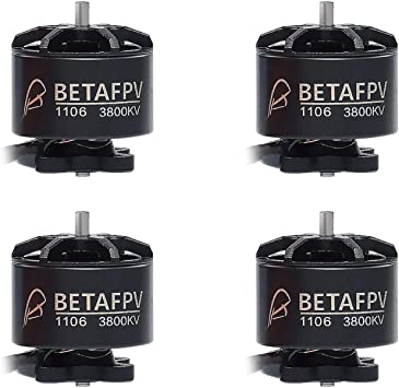 BETAFPV 4pcs 1106 3800KV Brushless Motor 4S FPV Motors for F4 AIO 20A Toothpick Flight Controller 4S FPV Drone Quadcopter Like Beta95X V3 Pusher Drone