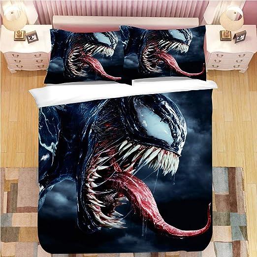 3D Venom Bedding Set Kids Duvet Cover Pillowcase Comforter Cover Quilt Cover