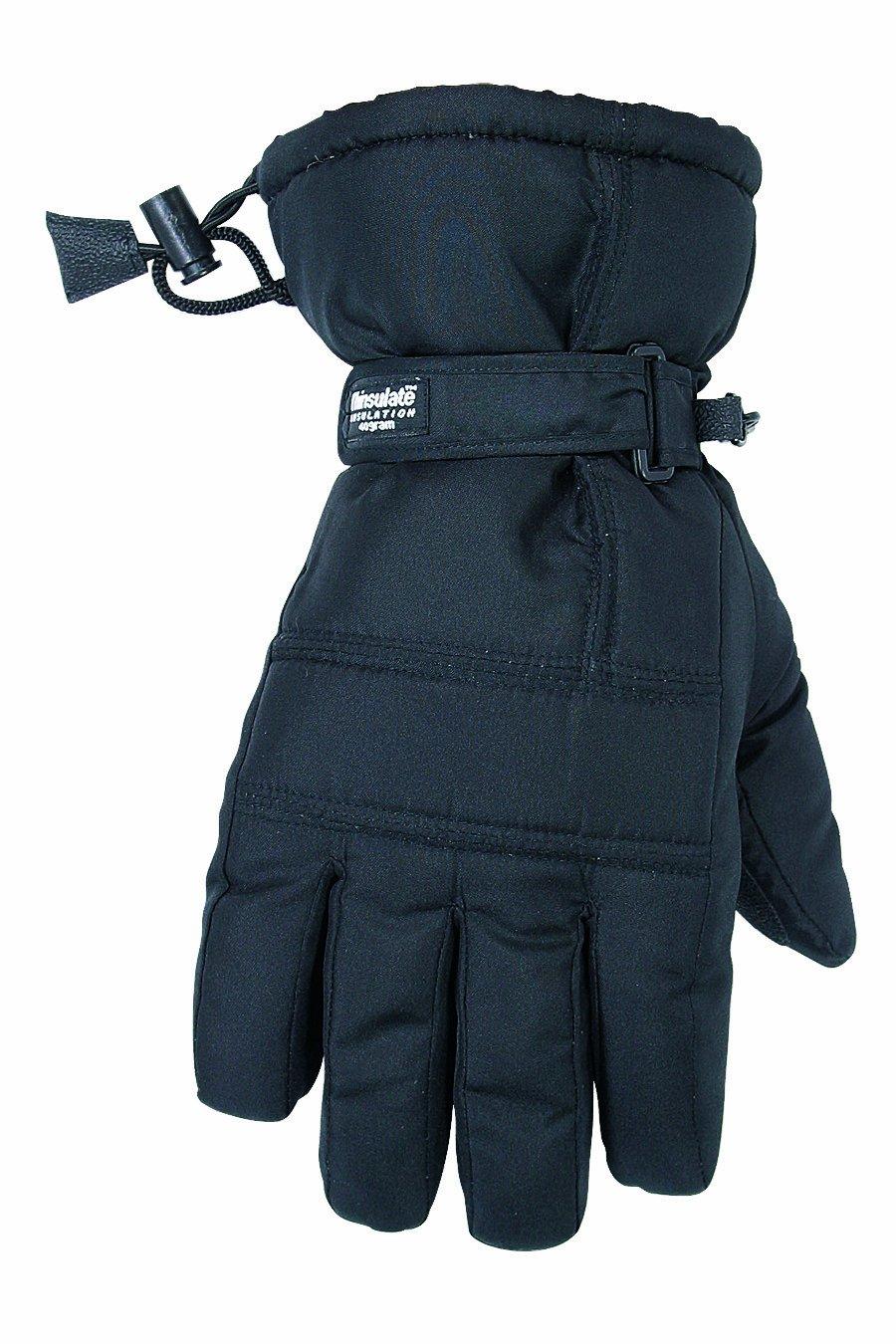 CLC Custom Leathercraft 2077L Black Ski Glove, Large
