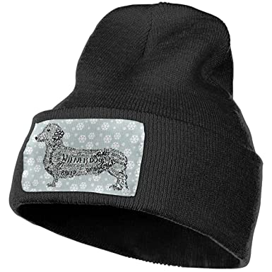 Real Men Play with Their Weiners Dog Beanie Caps Knit Hat Winter Warm Baby Boys