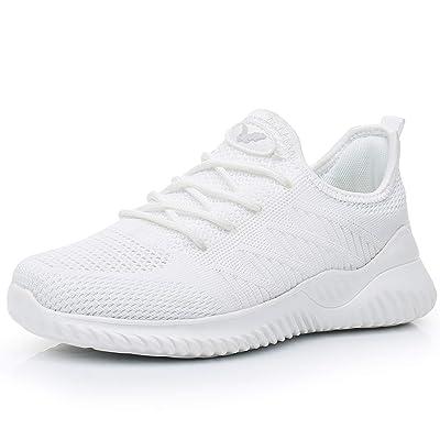 JARLIF Women's Memory Foam Slip On Walking Tennis Shoes Lightweight Gym Jogging Sports Athletic Running Sneakers US5.5-10 | Road Running