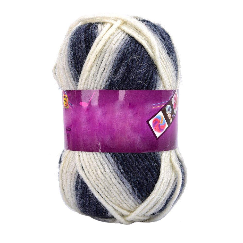Lot de 5 pelote, 100g//pelote Yunt Pelote de Laine 100/% Multicolore a Tricoter Pas Cher pour Chapeau Echarpe V/êtement B/éb/é