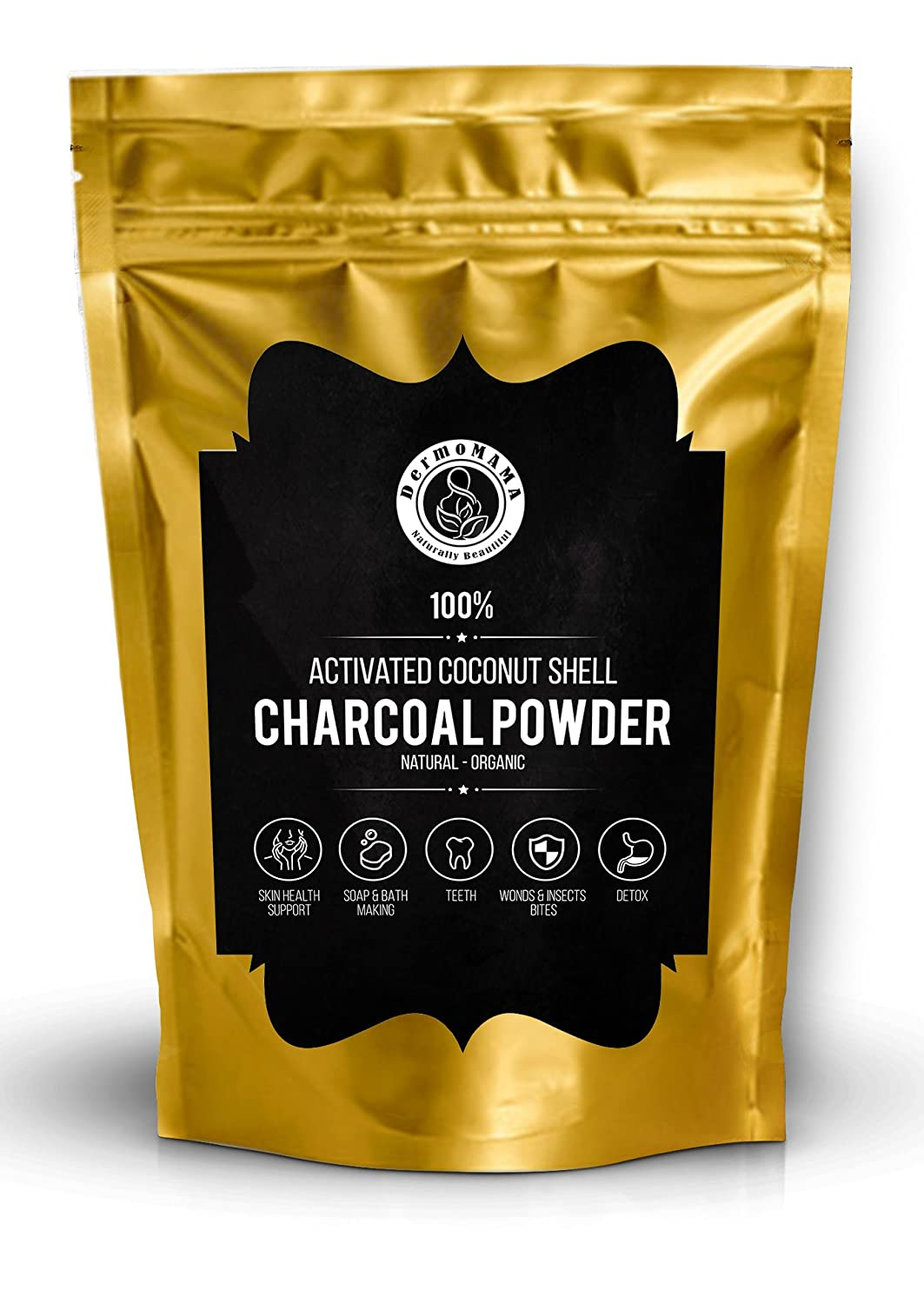 Organic Activated Coconut Shell Charcoal Powder 1 lb 16 oz Food & Cosmetics Grade, Bulk, for Toothpaste, Soap Making, Natural Teeth Whitening Solution, DIY Peel Off Mask NO Trees Harmed in Marking
