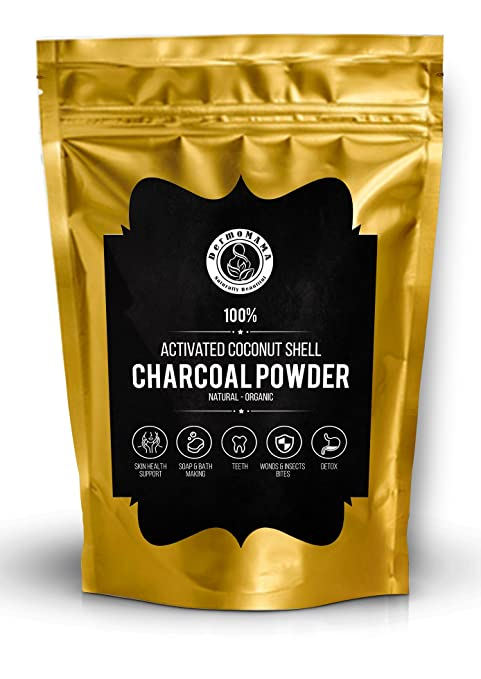 Amazon.com : Organic Activated Coconut Shell Charcoal Powder by Dermomama, Food Grade, For Toothpaste, Soap Making, Natural Teeth Whitening Solution, Detox, ...