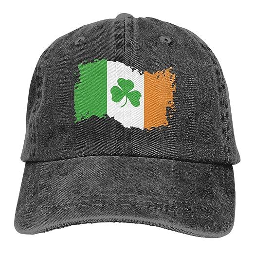 Women Men Adjustable Baseball Cap Ireland Flag Sun Hats Black at ... d786ee81466