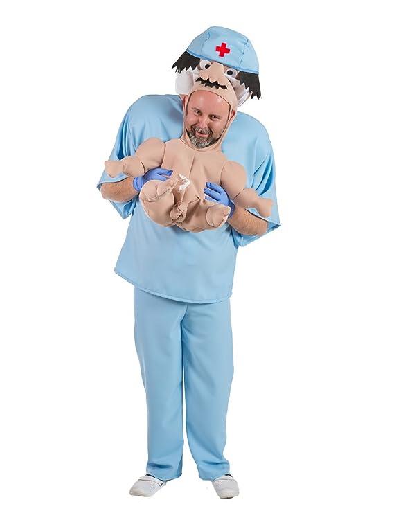 Disfraz de Doctor con Bebé recién nacido para adulto: Amazon.es ...