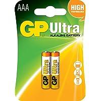 Gp Batteries Gp24Au Ultra Alkalin Lr03/E92/Aaa Ince Kalem Pil, 1.5 Volt, 2'Li Kart