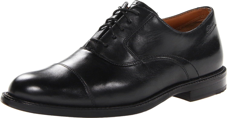 Amazon.com | Clarks Men's Dorset Boss Oxford, Black Leather, 8 W US |  Oxfords