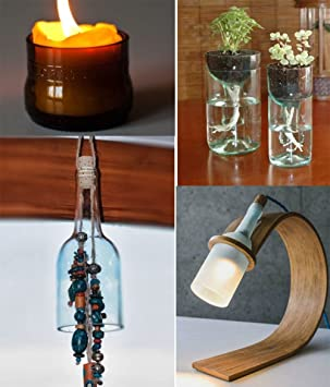 yosoo Botella Fresa/Cutter Cristal Cutter eléctrica cristal botella Herramientas de Corte verde: Amazon.es: Bricolaje y herramientas