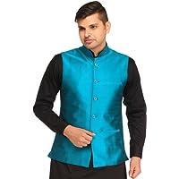 Exotic India Men's Silk Waistcoat