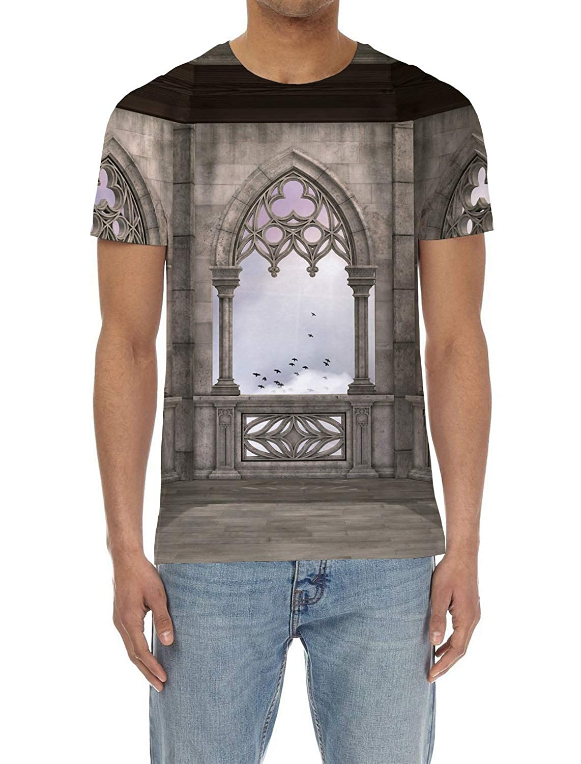 SunShine Day Gothic Mens Everyday ComfortSoft Short Sleeve T-Shirt for Workout Running Sports