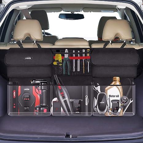 Oasser Organizador Maletero Coche Organizador Coche Bolsa Maletero Coche para Furgoneta y Autocaravana 94x48x6.5cm 6 Bolsillos Tela Oxford 600D E6