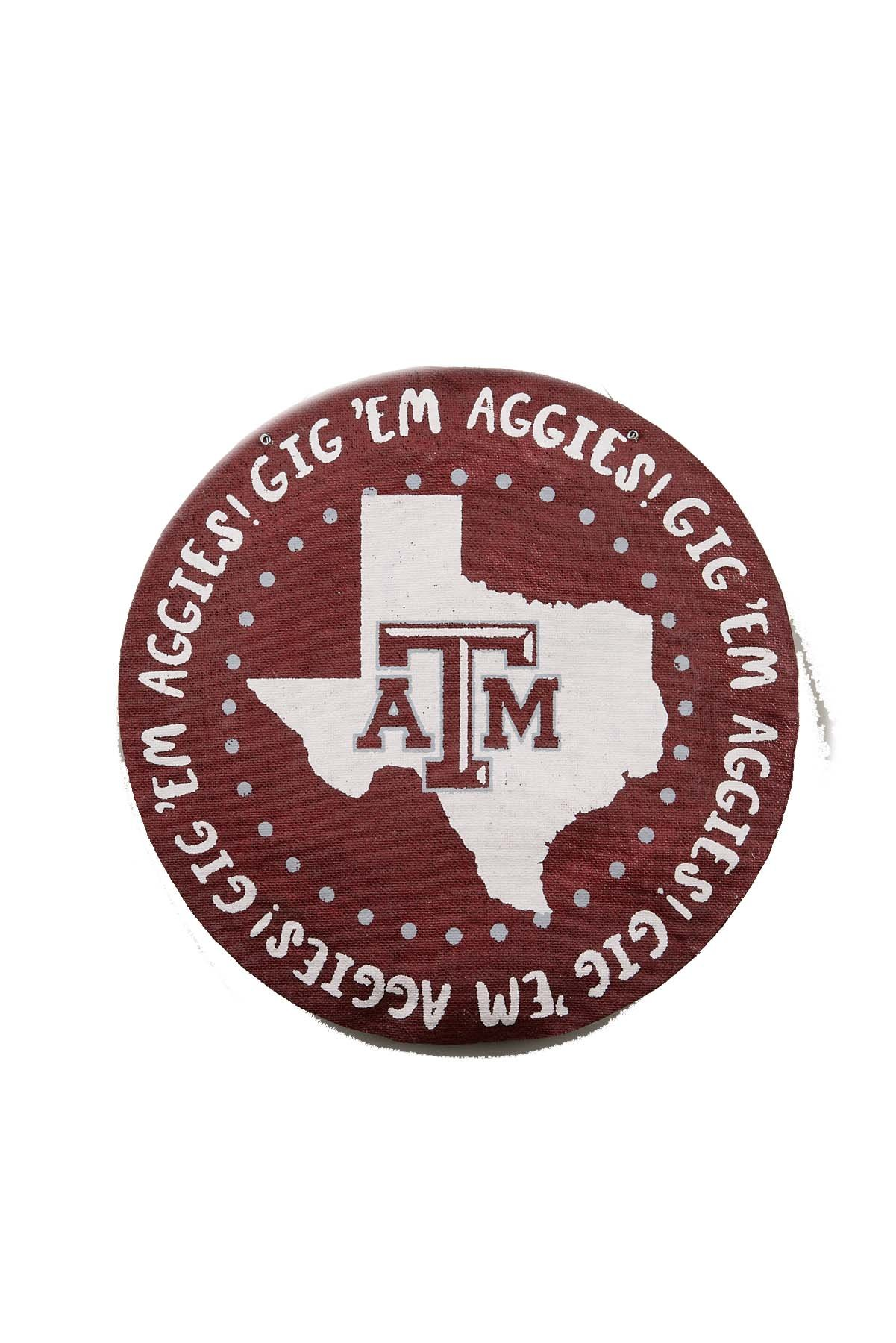 Glory Haus Texas A&M Round Burlee, Multicolor