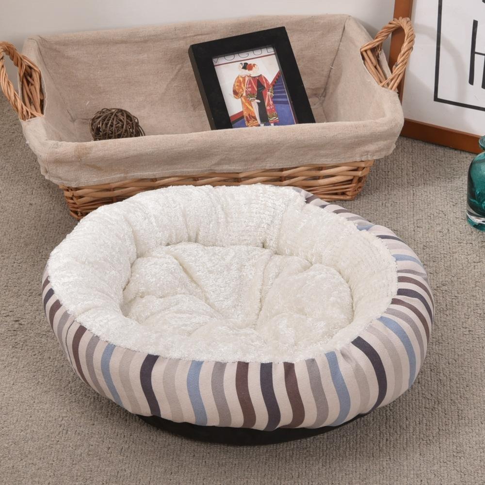 Kennel Pads Dog Beds Pet mat Rich Velvet Inner Circle Lamb Soft color Round Dog nest 38  38  10cm Cat Bed Pet Supplies Cover