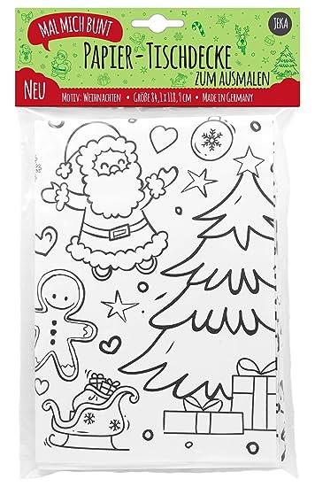 Mal Mich Bunt Papier Tischdecke Zum Ausmalen Zu Weihnachten