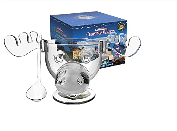 cultica griswold family moose glass mega set 4 moose mugs punch bowl punch spoon warner brothers licensed product christmas vacation - Christmas Vacation Moose Punch Bowl