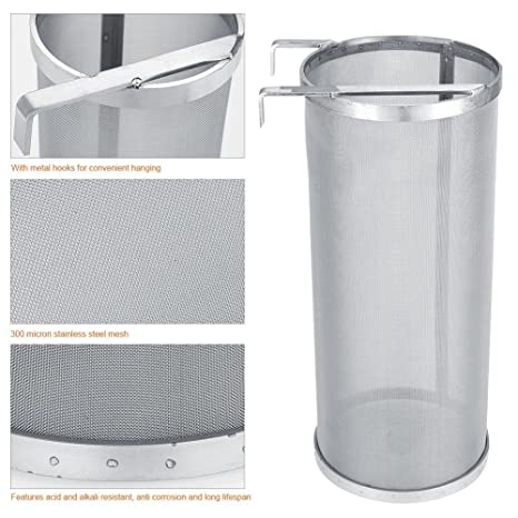 300 Stainless Steel Mesh Beer Filter for Homemade Brew Home Coffee Dry T