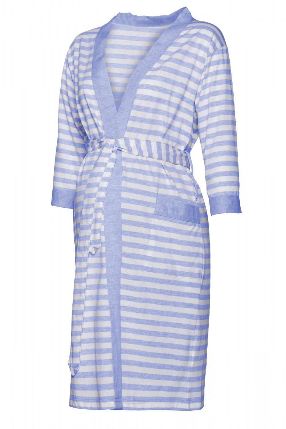Happy Mama Women's Maternity Top Nursing Pyjamas and Robe Sold Separately. 394p (Robe - Light Blue, US 12/14, 2XL)