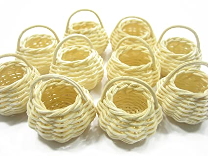 b7f2f46d5fbf7 Image Unavailable. Image not available for. Color: 10 Small Round Handmade Wicker  Baskets ...