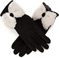 Womens Winter Warm Gloves Touch Screen Black Fleece Lining Gloves