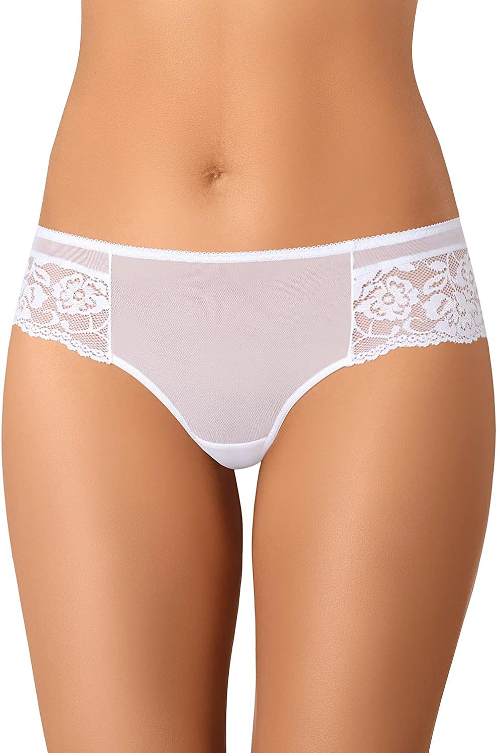 Teyli 319 Womens Thong lace mesh Smooth