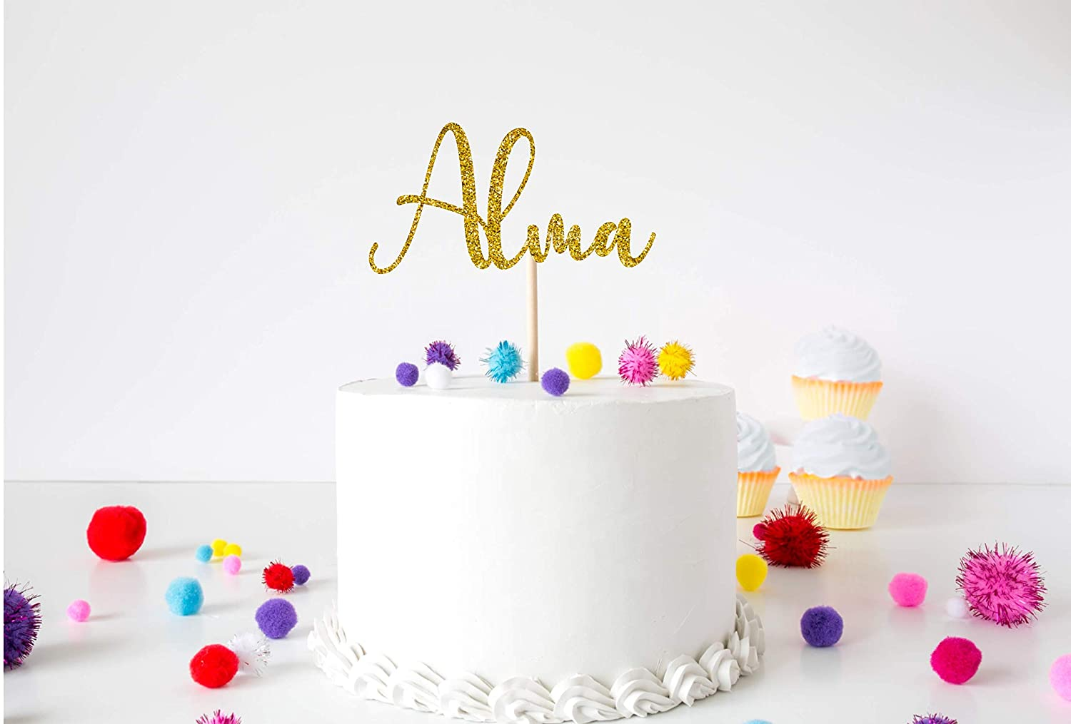 Fabulous Cake Topper Choose Your Text Party Celebration Personalised Funny Birthday Cards Online Benoljebrpdamsfinfo