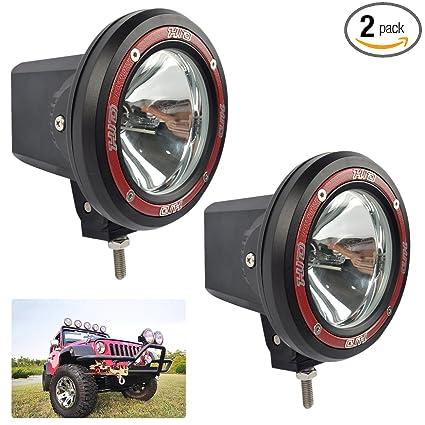 e8ade30ccb11 Amazon.com  2-Pack 55W 4〃 HID Light Offroad Light Pods Lights ...