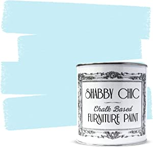 Shabby Chic Furniture Chalk Paint: Chalk Based Furniture and Craft Paint for Home Decor, DIY Projects, Wood Furniture - Chalked Interior Paints with Rustic Matte Finish - 250ml - Duck Egg