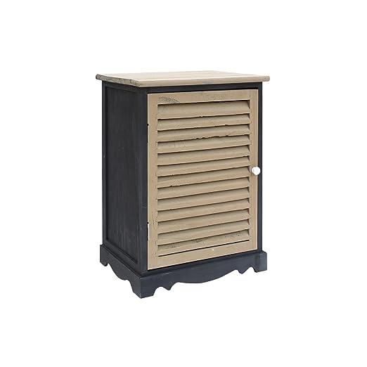 Mobili Rebecca® Kommode Aufbewahrungsschrank Holz Schwarz Grau Vintage  Schlafzimmer Home Decor (Cod. RE6071