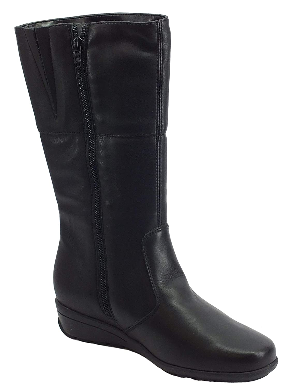 Cinzia Soft Stivali Pelle Nera Nera Nera con Zeppa Bassa c7799f