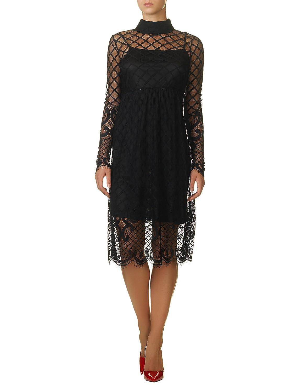 Glamorous Women's Women's Black Lace Dress 100% Polyester