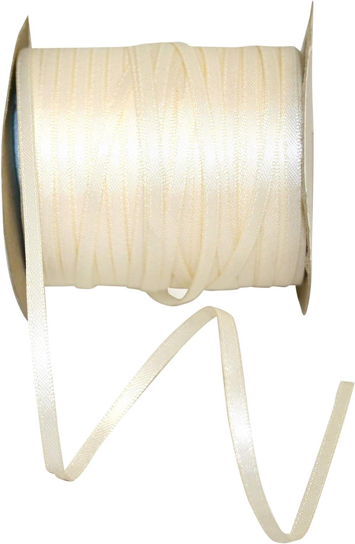 Reliant Ribbon 4950-810-18C Double Face Satin Ivory Dfs Ribbon