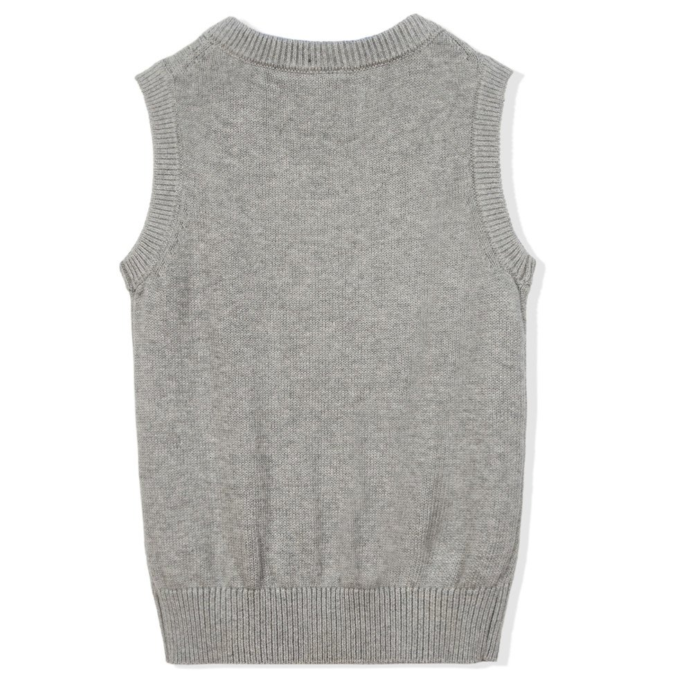 Benito /& Benita Boys Uniform Vest V-Neck Cable School Sweater Vest for Boys//Girls 3-12Y