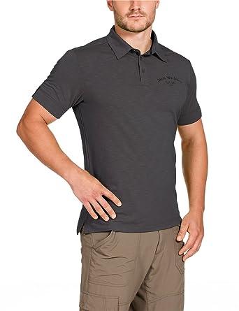 Jack Wolfskin Travel Polo Men's Shirt grey Dark Steel Size