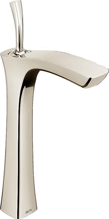 Delta Faucet 752LF-PN Tesla Single Handle Vessel Bathroom Faucet ...