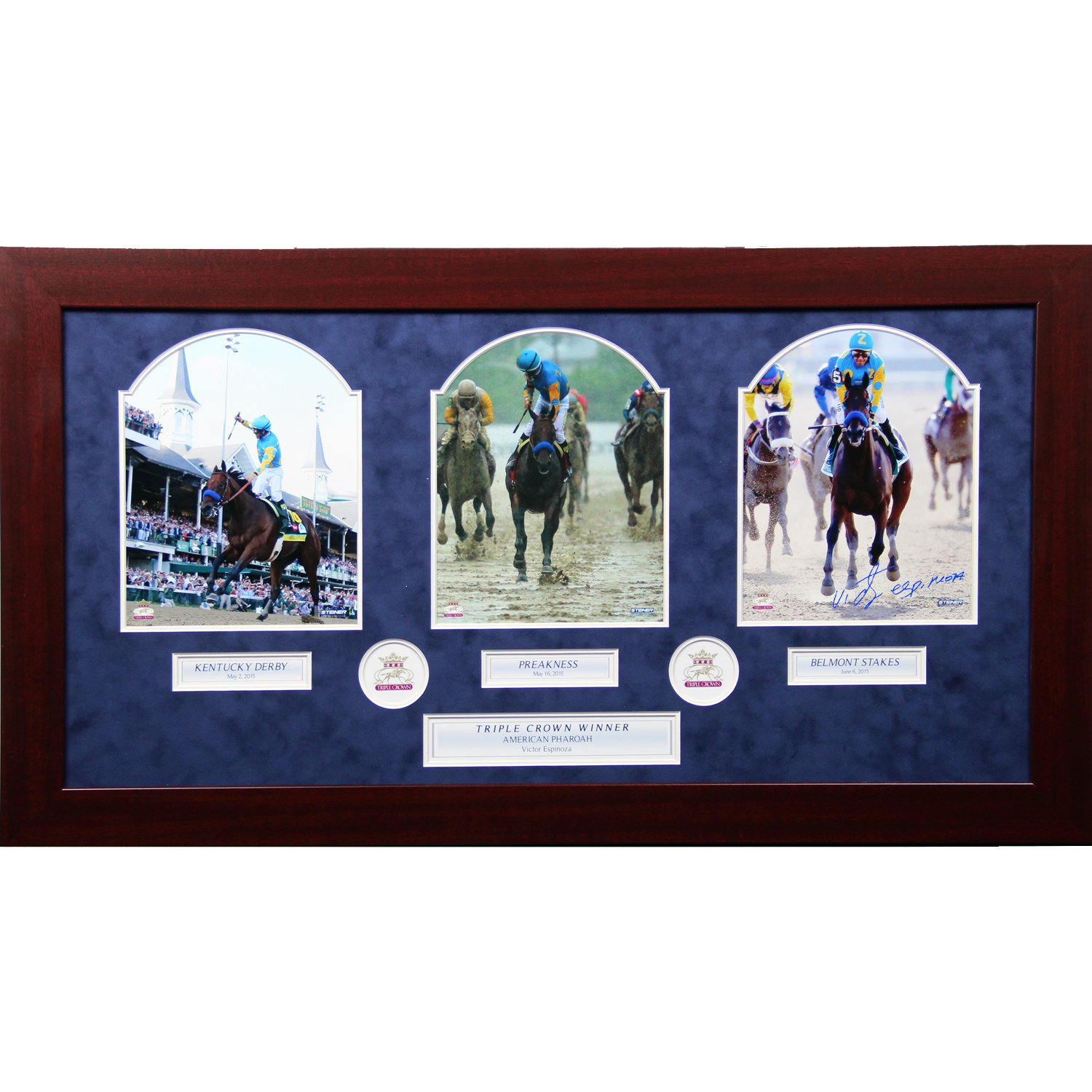 Steiner Sports Victor Espinoza Signed Framed Photo, 8'' x 10''