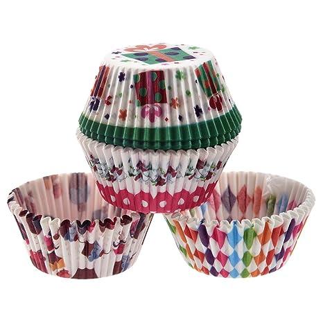 TOOGOO(R) Moldes Papel Copa de Horneado 100pcs para Magdalenas Pastel Tarta Cupcakes