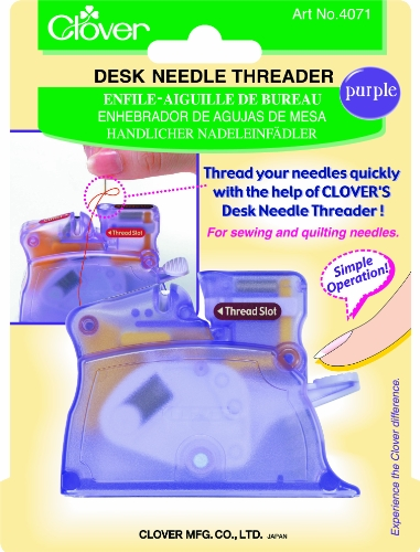 Clover Desk Needle Threader Purple