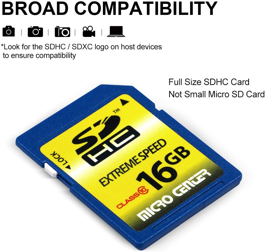 2 Pack Micro Center 32GB Class 10 SDHC Flash Memory Card SD Card